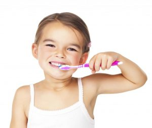 Girl Brushing Teeth